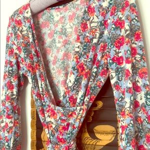 Leota floral wrap dress size S